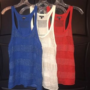 BUNDLE DEAL!!! EXPRESS knitted tank tops. Size M.